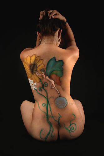 flower body paint