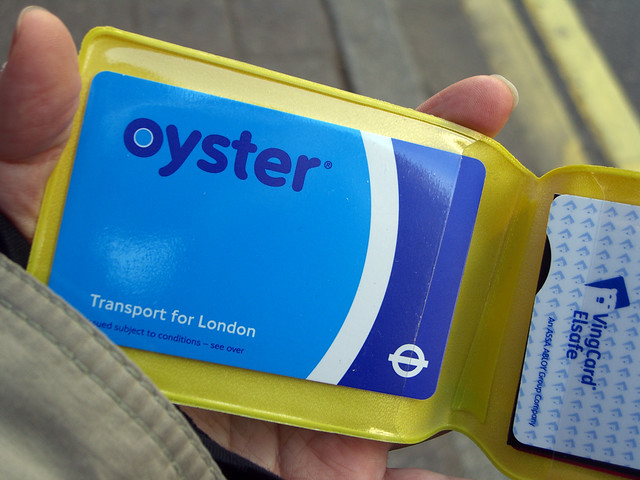oystercard in a case