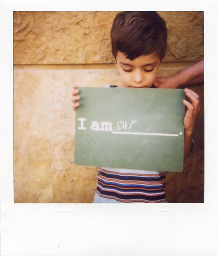i am shy.