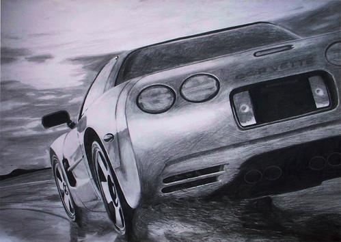 corvette 1997 by Magdalena Mroczkowska.