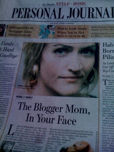 Heather in The WSJ!!