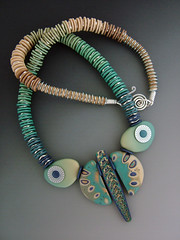 WingedTurquoise (julie_picarello) Tags: house yellow beads julie jewelry mg clay polymer gane mokume picarello yellowhousedesigns