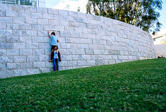 the wall II (Amanda) Tags: playing love grass wall nikon escape climbing tiny buff strong fe littlepeople thewall weights boost greatwallofchina thegetty