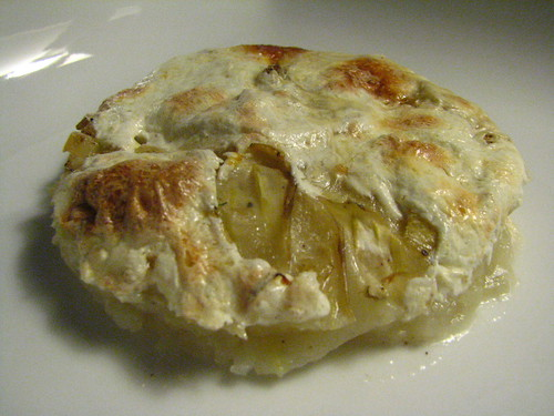 Potato and Fennel Gratin with Fresh Mozzerella