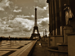 Eiffel Tower from Palais de Chaillot.- (ancama_99(toni)) Tags: street leica city trip travel light vacation sky urban house holiday paris france color building tower art monument yellow metal sepia architecture clouds photoshop buildings french geotagged lumix photography lights photo interestingness interesting iron europa europe cityscape torre tour photos eiffeltower cityscapes frana eiffel photographic structure panasonic explore toureiffel torreeiffel champdemars palais 2008 trocadero francia parijs italians pars urbanas 1000views parigi urbanscapes palaisdechaillot chaillot 5000views 50faves 100favs fz7 dmcfz7 25faves aplusphoto holidaysvacanzeurlaub diamondclassphotographer ancama99 interesantsimo