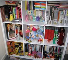 my white box shelf thingy (lorryx3) Tags: white little shelf wonderwoman batgirl barbiedolls octoberfestbarbiegumycarebearsmy ponysnow