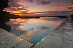 North Curl Curl Reflection (Tim Donnelly (TimboDon)) Tags: ocean sea pool sunrise reflections australia nsw tidalpool cokin themoulinrouge oceanpool northcurlcurl bestofaustralia