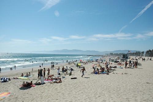beach people in venice beach california