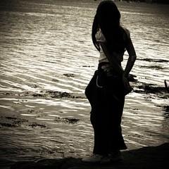 Stolen story [Lane 32] (Christine Lebrasseur) Tags: people blackandwhite france art 6x6 water sepia canon back marine child body silouette 500x500 lane kidslife poseidonsdance allrightsreservedchristinelebrasseur