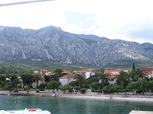 Orebic on Peljesac peninsula from ferry