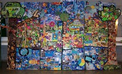 When Nature Calls: Urinetown Recycled Paper Mosaic (xola arts and objects - lisa arnold) Tags: art collage paper recycled mosaic installation dramaturgy