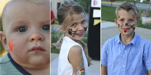face painting triptych