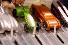 2008 CSCA Pinewood Derby - 4 Car Showdown (cdubya1971) Tags: wood columbus ohio car race boyscouts gravity 2008 derby pinewood bsa pinewoodderby ccad csca chrisrinehart