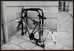 (Photographymax) Tags: bike bristol weekend no wheels away blogged locked a tumblr