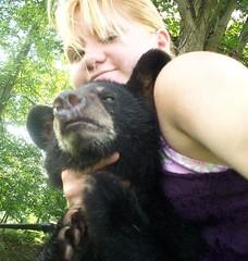 A Girl And Her Bear (Ind3rjeetKaur) Tags: bear animals sally lin