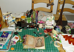 Creative Mess! (Phizzychick!) Tags: altered book journal