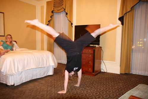 Whatever do you mean you didn't do cartwheels in your room?