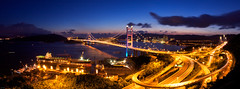 Tsing Ma Bridge  (FHKE) Tags: sunset hongkong magic magichour tsingma tsingmabridge    elvisf