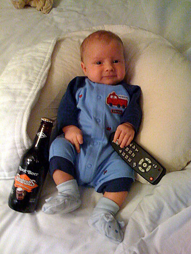 remote and root beer