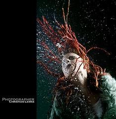 water (Cle78) Tags: red portrait woman rot water girl dreadlocks canon hair eos women wasser christian dread frau mädchen 30d haare haar lemke