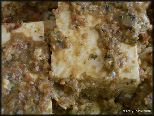 Close-up Pomegranate Tofu