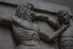 They'll kill each other! (Sarah Ross photography) Tags: uk england sculpture man london art stone museum greek fight ancient little thing small things carving frieze strangle zeus stuff olympia britishmuseum choke ancientgreece thingamabob elginmarbles centaur thingamajig closefocus littlethings lapiths sarahr89 sarahrossphotography