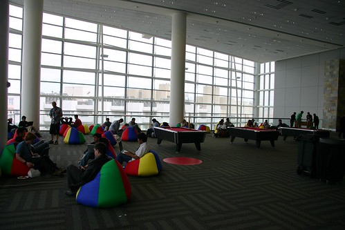 Google IO lounging