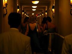 blue friends love hallway bridesmaids reception 2008 winchestervirginia seersucker winchesterva georgewashingtonhotel oldtownmall 55200mmvr mitchandann handlians