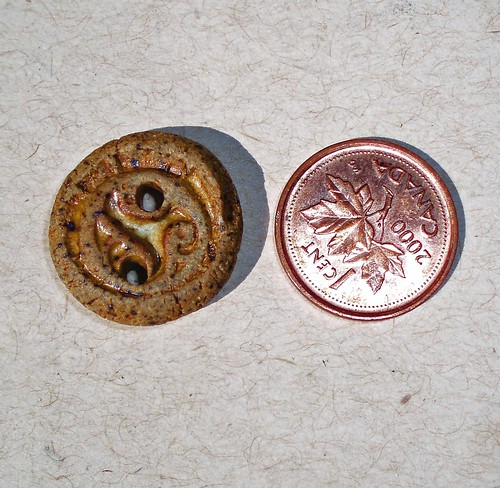 Celtic knotwork clay buttons