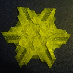 Circle of Hexagons  Reverse (Yureiko) Tags: paper origami papier tessellation paperfolding melina hermsen papierfalten yureiko
