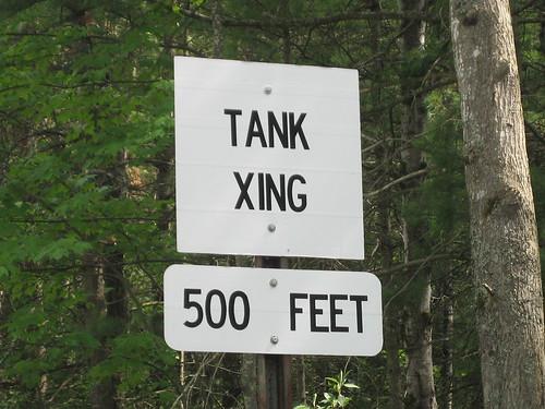 tank xing near a base