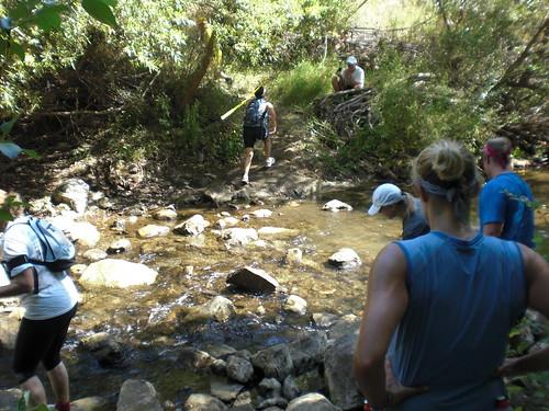 Creek fording!