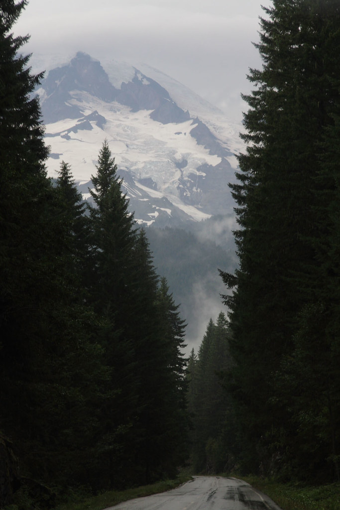 Mount Rainier with Glacier