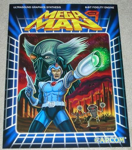 mega man 9 poster