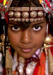 Tuareg girl with jewels, Ghadames, Libya (Eric Lafforgue) Tags: africa woman girl face female gold eyes desert or femme culture jewelry tribal unesco explore tribes tradition tribe ethnic libya fille tribo jewel libyan ethnology tribu libia libye libyen ghadafi 13213 parure lbia ethnie libi libiya  ribia liviya khadafi libija    ghamades    lbija  lby  libja lbya liiba livi
