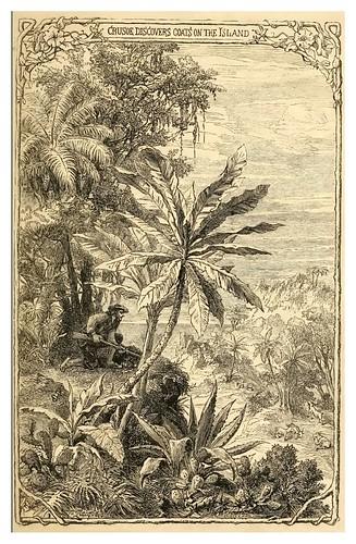 08- Robinson Crusoe descubre cabras en la isla