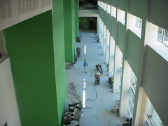 Looking down on atrium from 2nd floor
