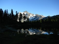 Shuksan Reflection off Picture Lake (broad view)