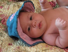 A cutie (Rina A.W) Tags: family baby cute girl sarah photography sweet daughter babygirl fourmonths