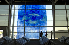 New Indianapolis Airport Preview (indyjrob) Tags: architecture airport indianapolis aviation indy stainedglass terminal indianapolisairport indianapolisinternationalairport indyorg weircookterminal