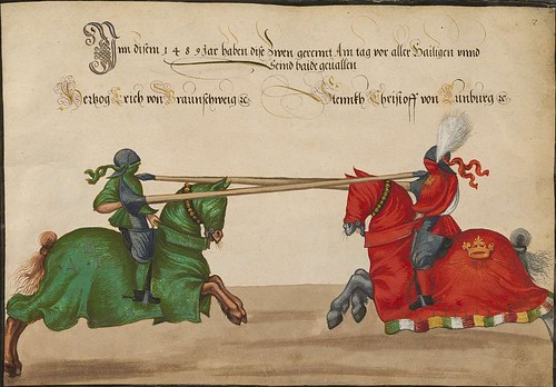 Later Medieval Tournament illustration (15th century)