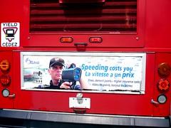 Radar Gun - Ottawa 09 08 (Mikey G Ottawa) Tags: street ontario canada bus ottawa oct fine police advertisement transit speeding busad infraction radargun mikeygottawa