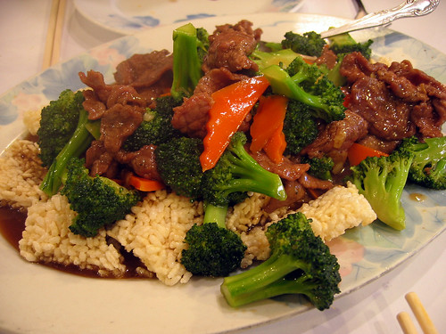 Sizzling rice beef