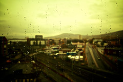 Leave Me Out With The Waste, This is Not What I Do (Nick Today) Tags: city window colors rain norway drops europe view nick overcast funky vignette viewfrommywindow drammen nickinnorway ilovetakingpicturesoutmywindow becausesophiesaidso