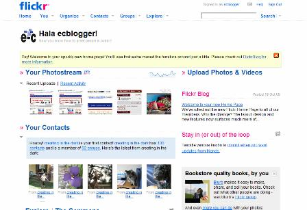Flickr hompage