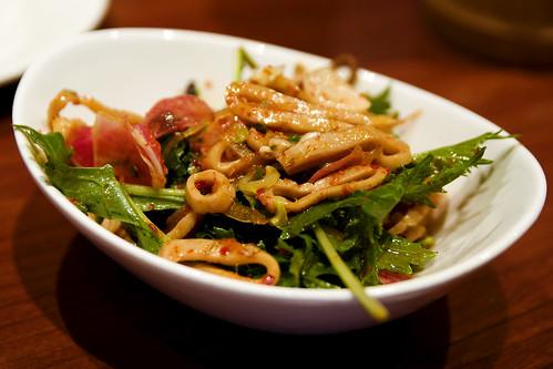 charred squid salad