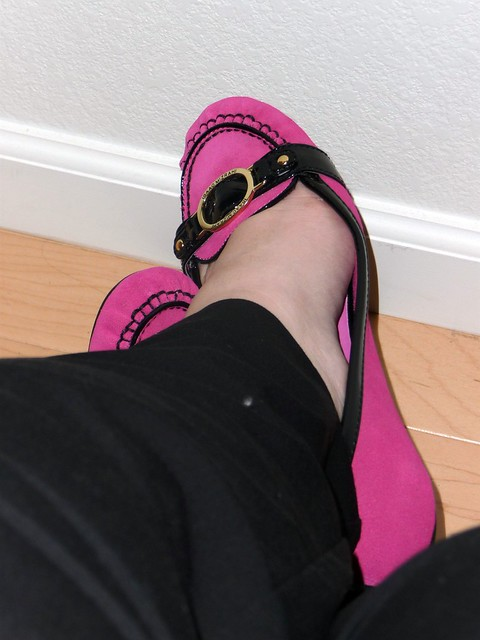 Is there ever a reason to say 'no' to Hot Pink shoes?