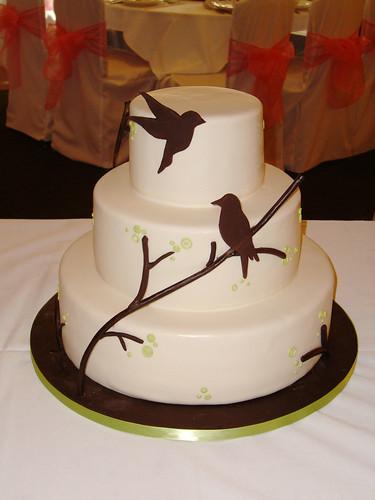Bird Silhouette Wedding Cake originally uploaded by Crazy Cake Lady