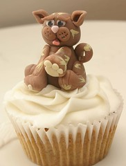 Cat Cupcake (Grace Stevens) Tags: flowers cats cupcakes capetown decorating gillian bows getwellsoon fondant gracescakes