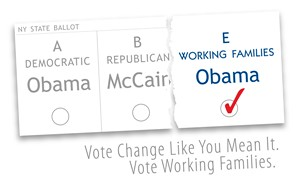 Vote Working Families - Row E